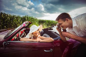 Karmann Ghia Cabrio - poprowadź klasyka, Samochód, auto do ślubu, limuzyna Szczerbice