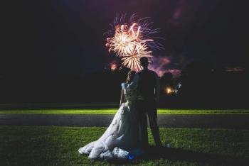 Fajerwerki na wesele, Pokaz sztucznych ogni Grybów