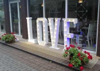 Napis LOVE - wynajem, Napis Love Bydgoszcz