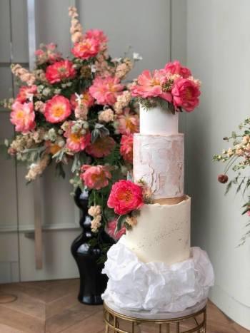 Słodki Stół i Tort  -  Candy Bar - glamour / rustykalny / boho, Słodki kącik na weselu Pieniężno