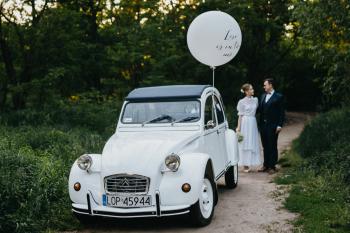 Zabytkowy samochód Citroen 2CV, Samochód, auto do ślubu, limuzyna Łódź