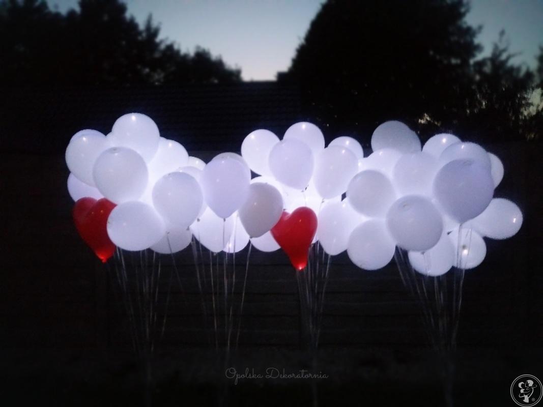 Balony z helem, led, świecące, girlandy balonowe, dekoracje z balonów, Opole - zdjęcie 1