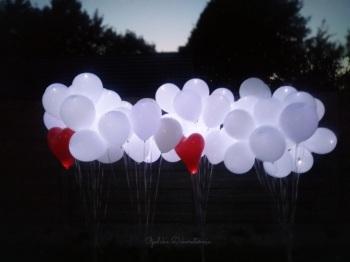 Balony z helem, led, świecące, girlandy balonowe, dekoracje z balonów, Balony, bańki mydlane Głubczyce