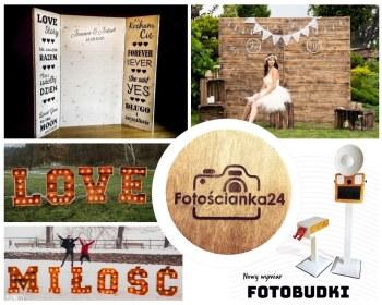 Fotobudka, Gif-Budka, drewniane Litery Love & Miłość oraz Fotościanka, Fotobudka, videobudka na wesele Dynów