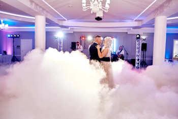 dodatki weselne -ciężki dym , napisy,iskry, Ciężki dym Sejny