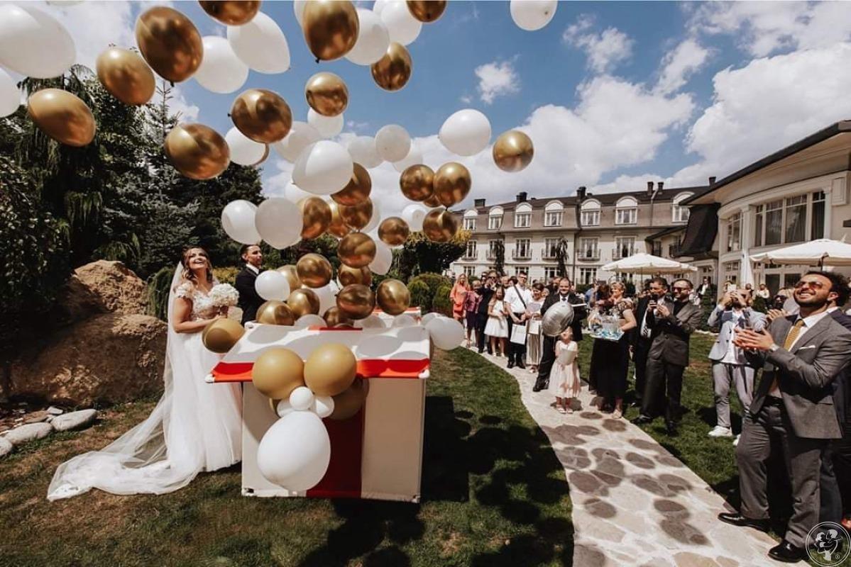 Balony z helem / Duże pudło prezent z balonami z helem na wesele LOVE, Bytom - zdjęcie 1