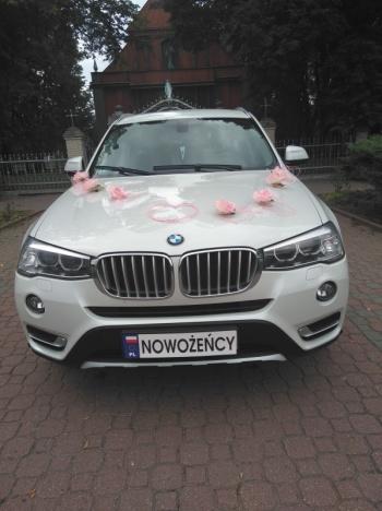Białe BMW X3xDrive20d  do Ślubu, Samochód, auto do ślubu, limuzyna Lublin