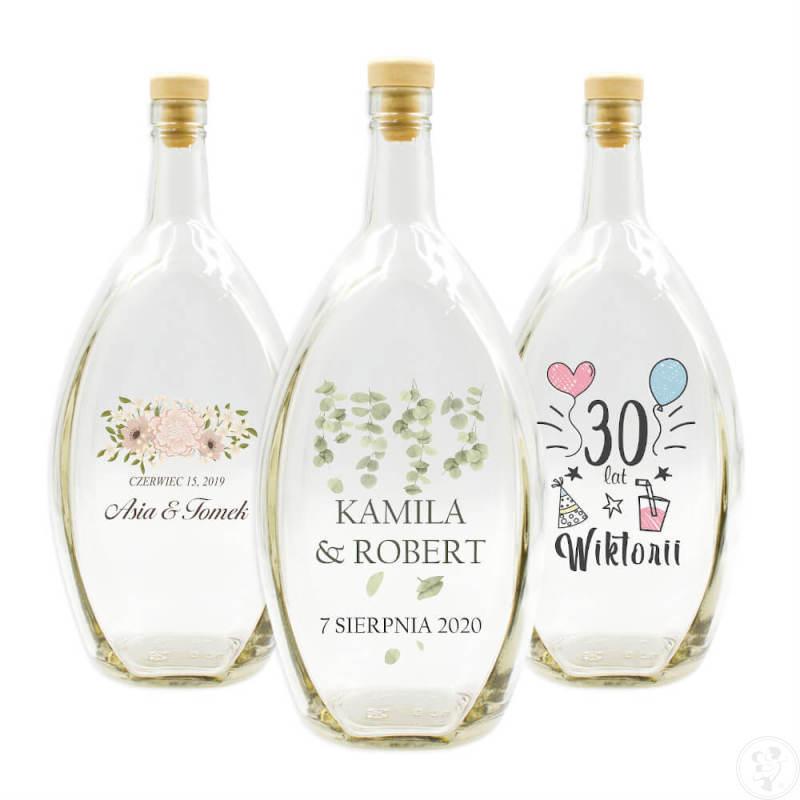 Butelki z nadrukiem lub grawerem, BECZUŁKI, PODZIĘKOWANIA dla gości, Niedomice - zdjęcie 1