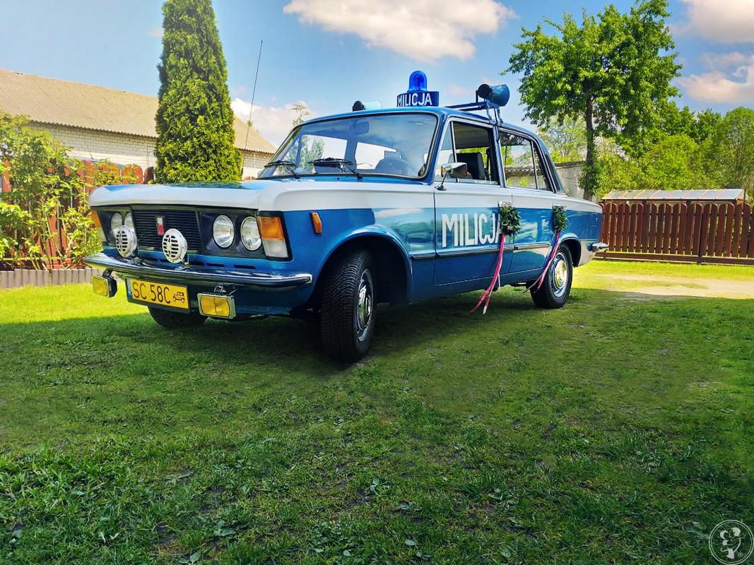 Auto z PRL, Milicja do Ślubu, Fiat 125p - zabytkowy, Częstochowa - zdjęcie 1