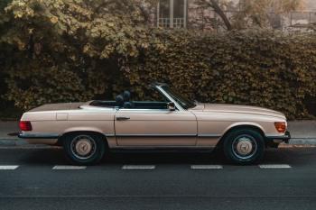Samochód do ślubu vintage retro Mercedes-Benz kabrio prowadzisz sam, Samochód, auto do ślubu, limuzyna Mszana Dolna