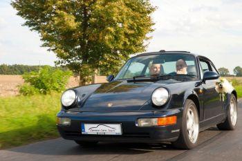 Klasyczne Porsche do ślubu, Samochód, auto do ślubu, limuzyna Międzychód