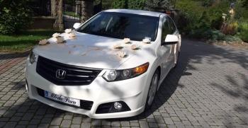 Auto do ślubu - Honda Accord VIII type S   biała perła, Samochód, auto do ślubu, limuzyna Lesko