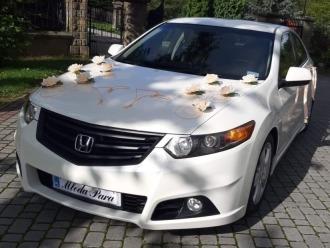 Auto do ślubu - Honda Accord VIII type S   biała perła,  Jasło