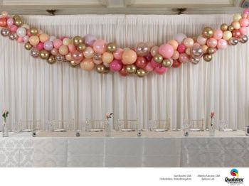 Elegancka i szykowna dekoracja balonami - dekoracja balonowa, balony, Dekoracje ślubne Szczyrk