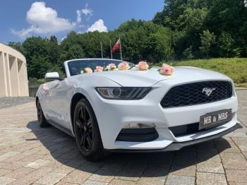 Auto do slubu samochod wesele bialy Mustang cabrio rav4 wolne terminy!, Samochód, auto do ślubu, limuzyna Zielona Góra