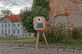 Fotobudka drewniana retro z klasą!, Fotobudka, videobudka na wesele Zambrów