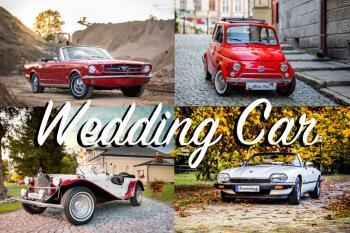 Ford MUSTANG 65′ V8 Jaguar XJSC Fiat 500 Mercedes SSK SamochódDoŚlubu, Samochód, auto do ślubu, limuzyna Ulanów