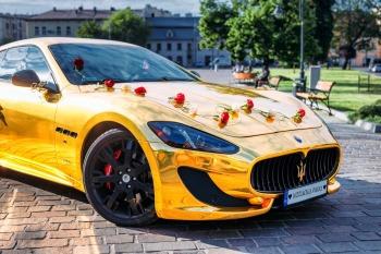 Złote Maserati GT S - Jedyny taki kozacki samochód do ślubu!, Samochód, auto do ślubu, limuzyna Olkusz
