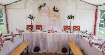 Wynajem namiotów imprezowych - podłoga, krzesła, stoły, oświetlenie!, Wypożyczalnia namiotów Żabno