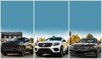 BMW 7, Mercedes GLE Coupe, Dodge Ram 1500, do ślubu, wesele, Samochód, auto do ślubu, limuzyna Lublin