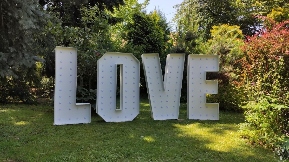 Napis LOVE podświetlany do wynajęcia. 120 cm RGB LED [FILM], Jarosław - zdjęcie 1