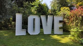 Napis LOVE podświetlany do wynajęcia. 120 cm RGB LED [FILM], Napis Love Jarosław