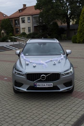 Volvo XC60 R design do ślubu srebrny, Samochód, auto do ślubu, limuzyna Tarczyn