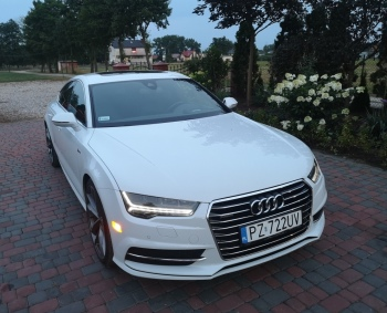 Audi A7, Samochód, auto do ślubu, limuzyna Pyzdry