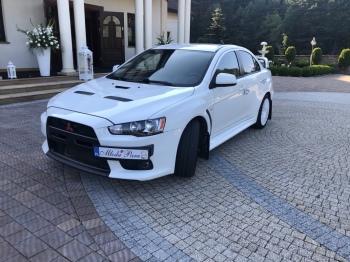 Mitsubishi Lancer Evo X , Wesele z Rajdowym klimatem., Samochód, auto do ślubu, limuzyna Chrzanów