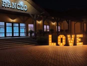 Drewniany napis LOVE podświetlany, Napis Love Puszczykowo