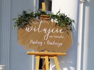 Tablica powitalna, tablica weselna - wynajem,  Łódź