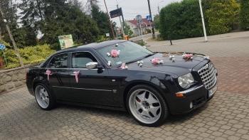 💖Samochód + dekoracje/CHRYSLER 300C/22 calowych felgach/bez limitów💖, Samochód, auto do ślubu, limuzyna Rybnik