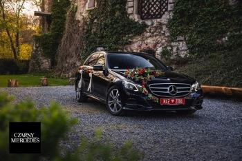 Czarny Mercedes - Luksusowe i nowoczesne auto do ślubu. WOLNE TERMINY!, Samochód, auto do ślubu, limuzyna Góra