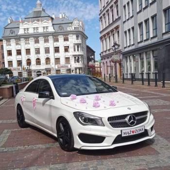 EKSLUZYWNY BIAŁY MERCEDES CLA w wersji AMG - PIĘKNO W DNIU ŚLUBU, Samochód, auto do ślubu, limuzyna Bielsko-Biała