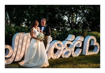 NOWY przepiękny, świecący napis MIŁOŚĆ!, Napis Love Przasnysz