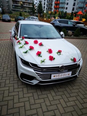 Auto do ślubu - Perłowy Volkswagen Arteon R Line, Samochód, auto do ślubu, limuzyna Dąbrowa Białostocka