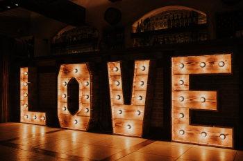 Piękny Napis LOVE - rustykalny, drewniany, boho, na wesele/plener, 1M, Napis Love Warszawa