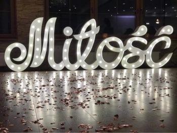 Miłość pisana by MK Events, Napis Love Bielsko-Biała