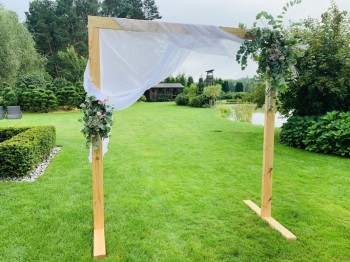 Ścianka drewniana dekoracja do zdjęć na wesela, Dekoracje ślubne Biała