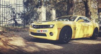 Camaro do ślubu Transformers Bumblebee auto do ślubu auto na wesele, Samochód, auto do ślubu, limuzyna Kielce