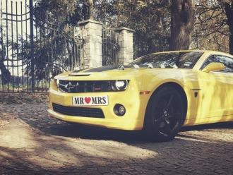 Camaro do ślubu Transformers Bumblebee auto do ślubu auto na wesele,  Kielce