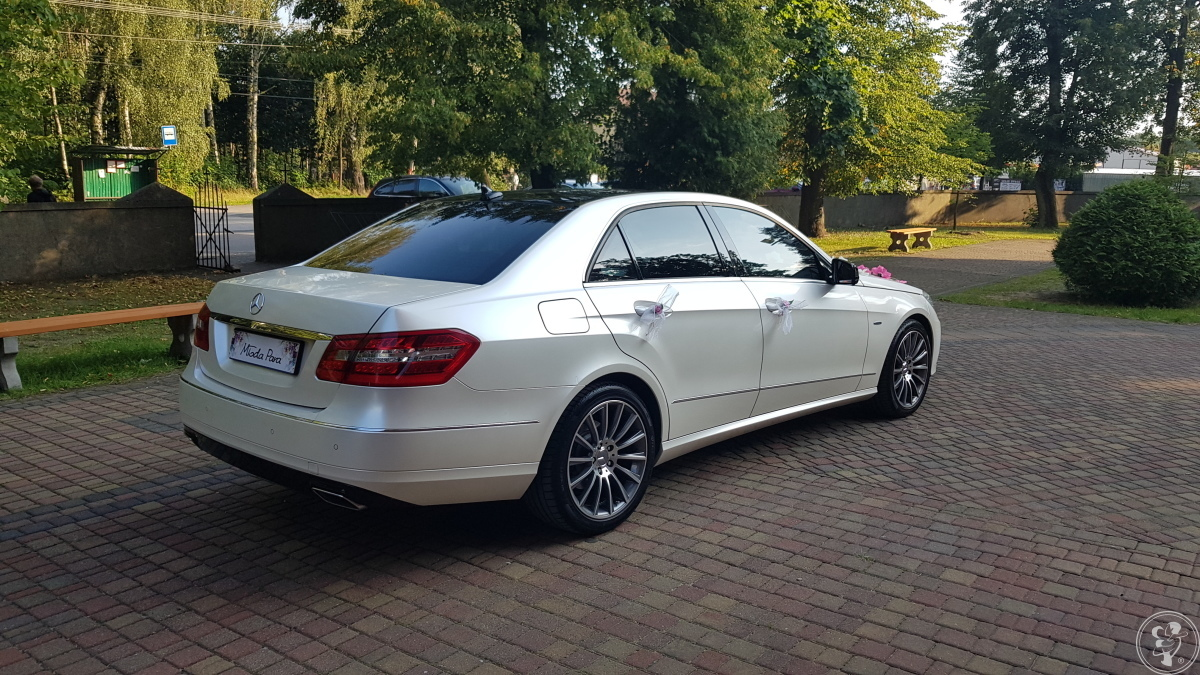 400zł Mercedes klasy E auto samochód do ślubu, biały kameleon, Łódź - zdjęcie 1