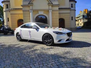 Mazda 6 *biała* perła, Samochód, auto do ślubu, limuzyna Ruda Śląska