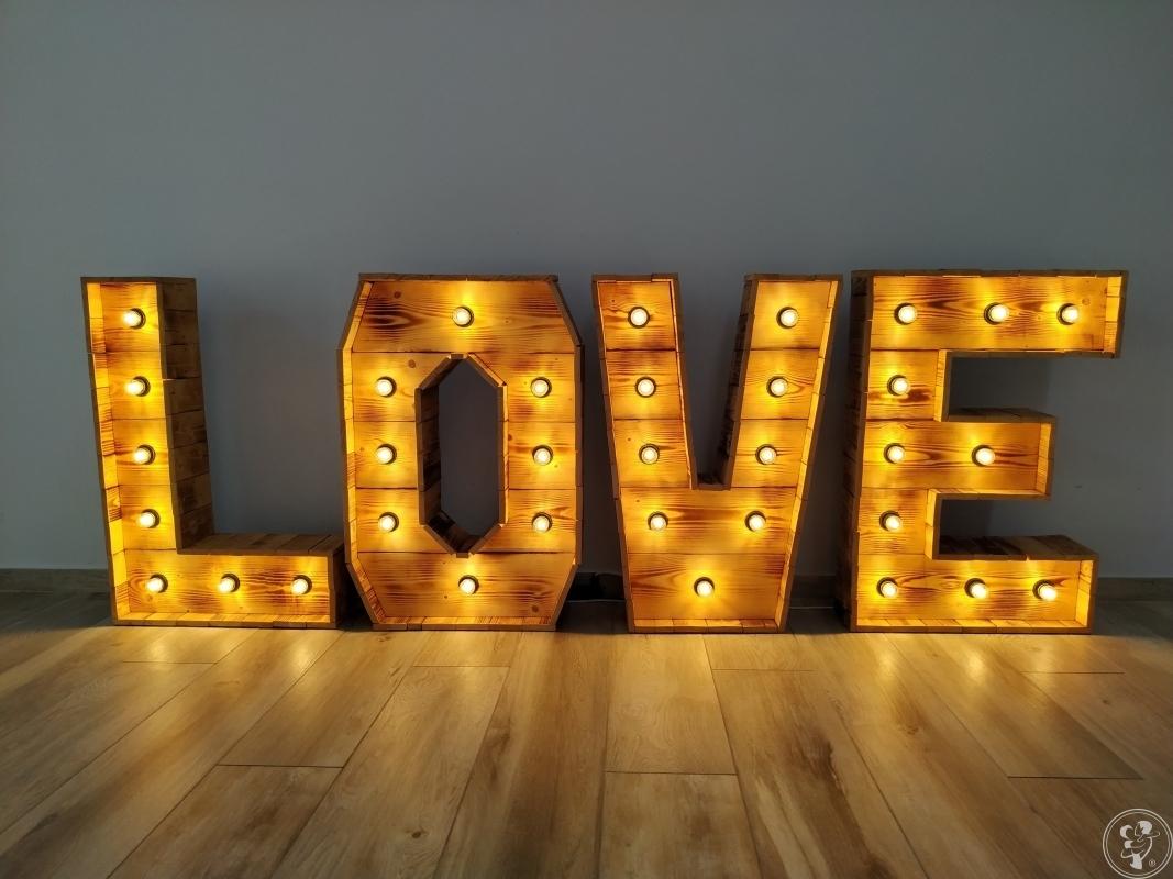 Piękny Napis LOVE - rustykalny, drewniany, boho, na wesele/plener, 1M, Warszawa - zdjęcie 1