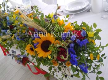 dekoracje sali i kościoła/bukiety ślubne i podziękowania Promocja