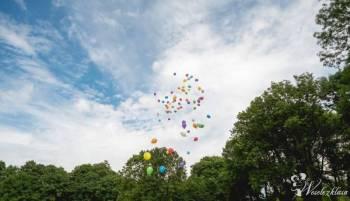 Pudło niespodzianka z balonami *HEL*, Balony, bańki mydlane Lublin
