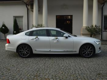 Volvo S90 – biała perła, jasna skórzana tapicerka., Samochód, auto do ślubu, limuzyna Radomsko