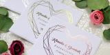Złocone Zaproszenia ślubne Klasyczne Eleganckie na ślub Rustykalne Eko, Przemyśl - zdjęcie 4