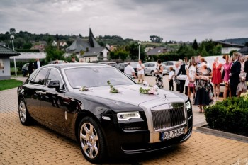 Luksusowym Rolls Royce do ślubu oraz Mercedesy V-klassa, Samochód, auto do ślubu, limuzyna Pilzno