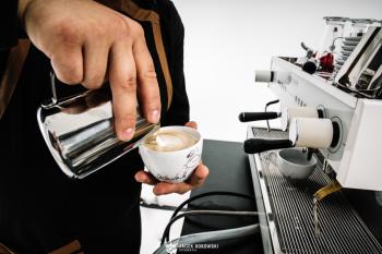 Kufel Event mobilny Coffee bar, Barista na wesele Żywiec